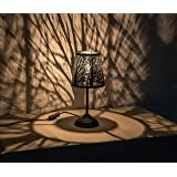 "Kanstar 15"" Hollowed-out Metal Table Lamp Desk Lamp Bed Lights With Lamp Shade (Forest)"