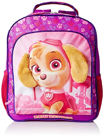 df5c3801214d Paw Patrol Little Girls Nickelodeon Sky with 3D Plush Ears Pink 14 Inch  Backpack