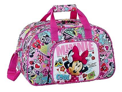 Minnie 2018 Bolsa de Deporte Infantil, 40 cm, 22 litros, Rosa y Fucsia
