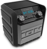 ION Audio Tailgater Go   Waterproof Compact Wireless Portable Bluetooth Speaker System with Built-In AM/FM Radio, Rechargeable Battery and USB Power bank