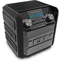 ION Audio Tailgater Go - Altavoz inalámbrico Bluetooth ultra-portátil resistente al agua con Radio AM/FM incorporada, batería recargable y banco de alimentación USB