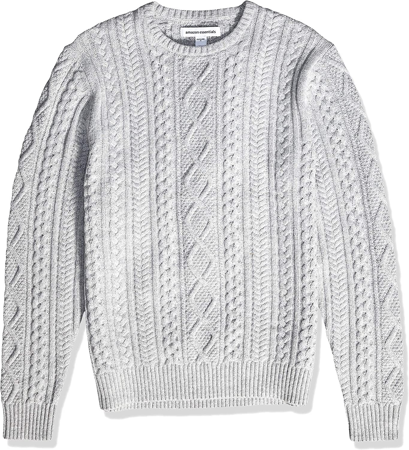 Essentials Mens Midweight Fisherman Sweater