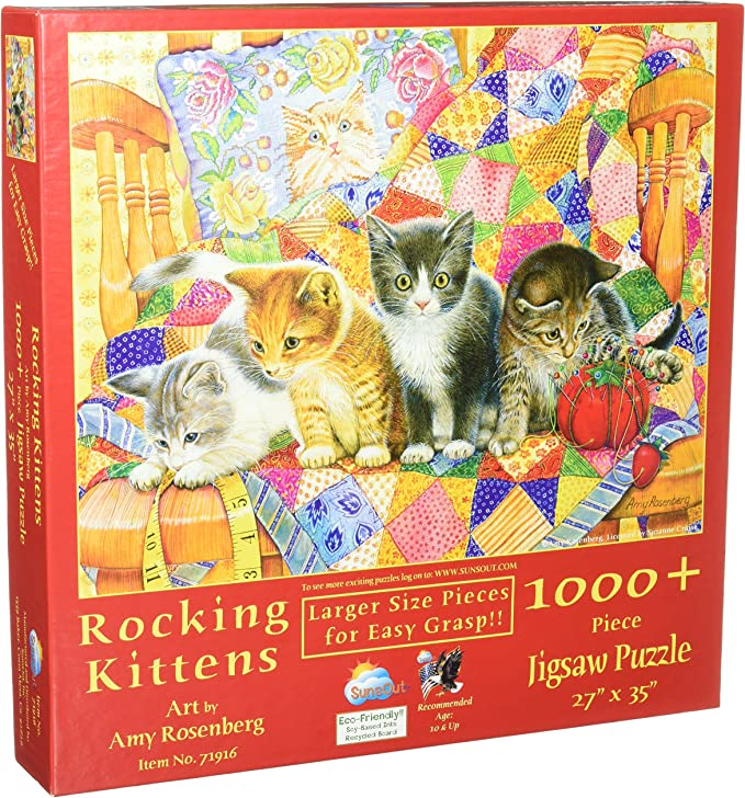 Sunsout Kittens for the Taking 500 Piece Jigsaw Puzzle Brand New Ships Free US