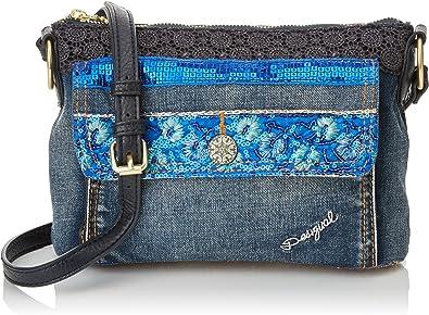 B x H T Bleu Azul Tinta Sacs bandouli/ère femme 7x17x29.5 cm Desigual Bols/_urban Mandala Petrer
