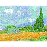 "DMC ""The National Gallery - Van Gough - A Wheatfield with Cypresses"" Cross Stitch Kit, Multi-Colour"