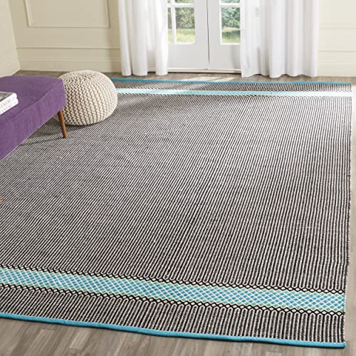 Safavieh Montauk Collection MTK820H Handmade Flatweave Turquoise and Multi Cotton Area Rug 8 x 10