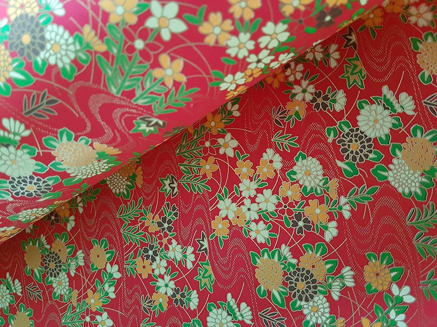 Traditional Japanese Chiyogami Yuzen Paper ~ 2 Large Sheets ~ Ref PR54RE56
