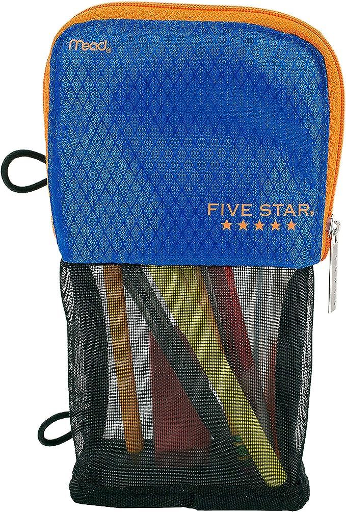 Mead Stand n Store cinco Star Pencil Pouch | azul: Amazon.es: Oficina y papelería