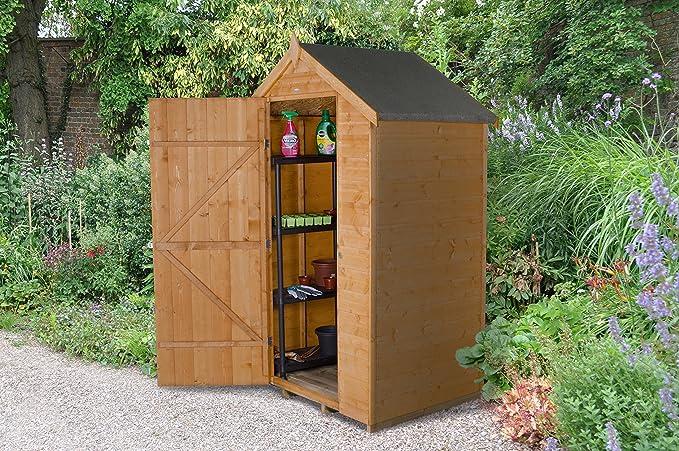 Bosque sda43nwhd 4 x 3 ft DIP caseta de jardín de seguridad tratada - Otoño dorado: Amazon.es: Jardín