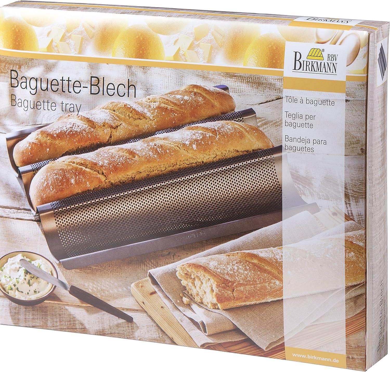 Birkmann 210141 - Molde para hacer baguettes (38,5 x 28 cm): Amazon.es: Hogar