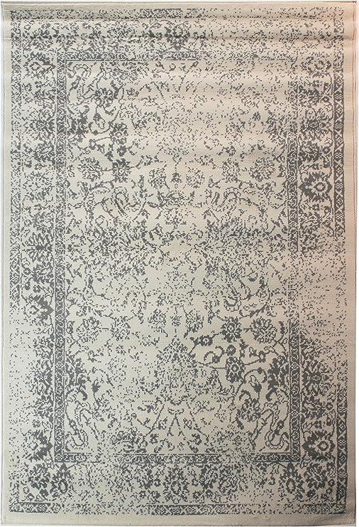 Lord of Rugs - Alfombra de Estilo clásico Vintage con Texto en inglés (120 x 170 cm), Color Gris: Amazon.es: Hogar