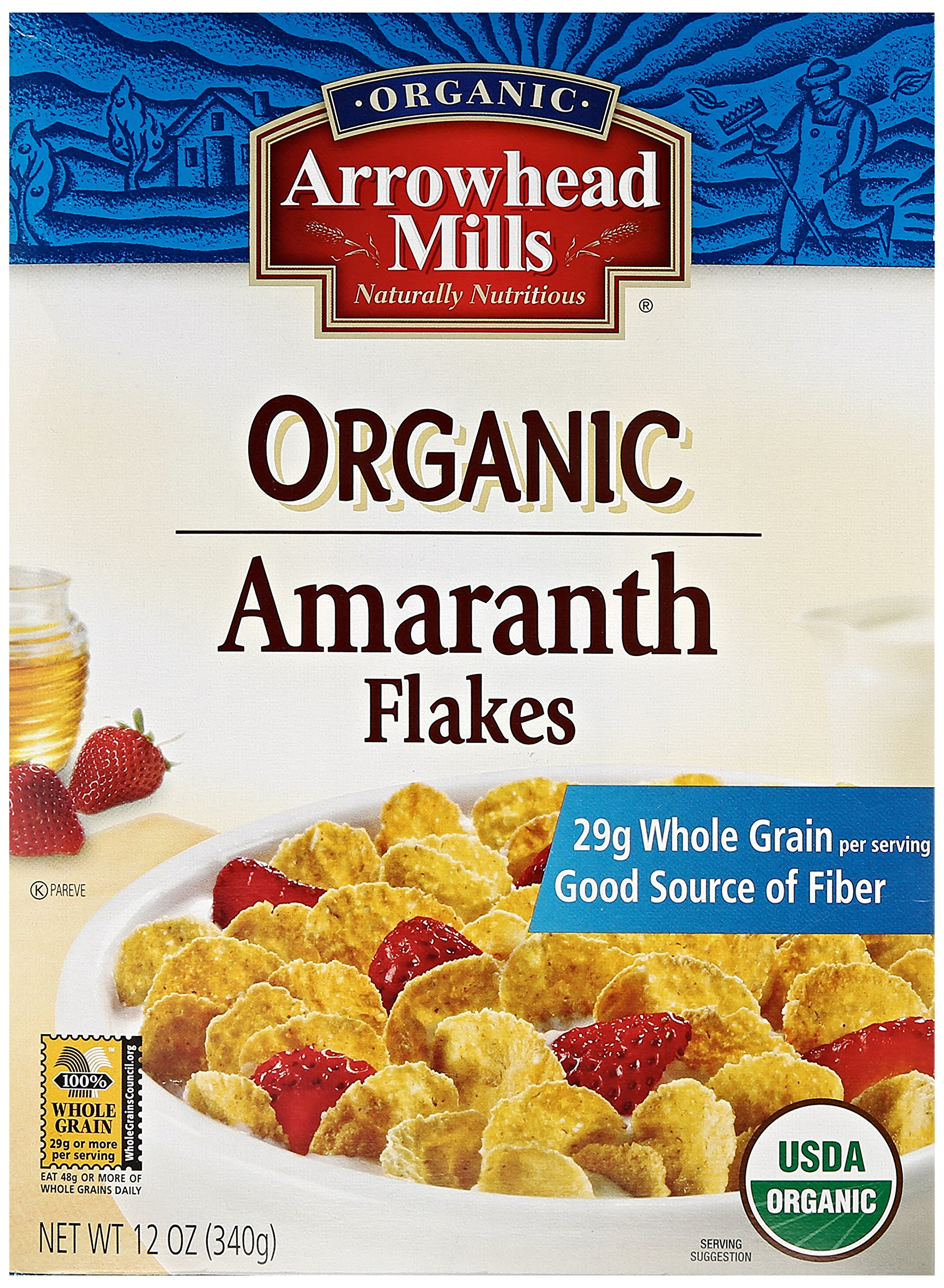 Arrowhead Mills Organic Cereal, Amaranth Flakes, 12 oz.