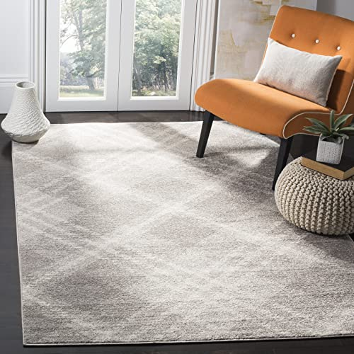 Safavieh Adirondack Collection ADR128B Ivory and Silver Vintage Area Rug 9 x 12
