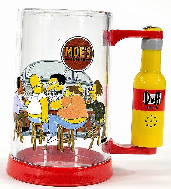 United Labels 0804199 - Jarra de cerveza con diseño de los Simpson (al apretar un botón se oye la voz de Homer en inglés): Amazon.es: Hogar