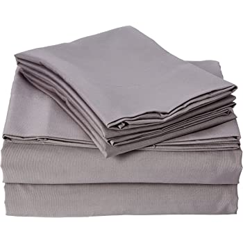 Beautiful Smart Cool Microfiber Bed Sheets Queen, Casual Grey Cooling Sheets, Cooling Bed  Sheets 4 Piece Include Flat Sheet, Queen Fitted Sheets U0026 2 Pillowcases