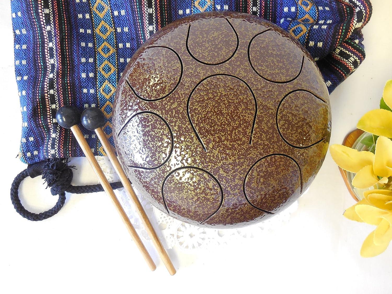 Hand Pan Drum Steel Tongue Drum, Wuyou 8in Drum, Chakra Drum, Hand Tuned Perfect Sound Healing, Birthday Gift
