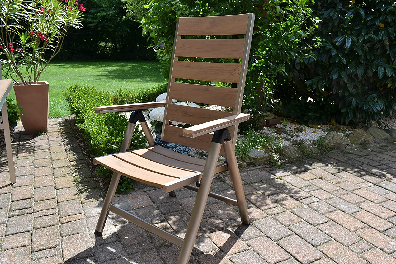 bomey aluminio conjunto Muebles de Jardín I Orlando 9 piezas ...