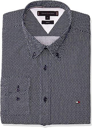 Tommy Hilfiger Camisa Slim Essential Marino Hombre XXL Azul: Amazon.es: Ropa y accesorios