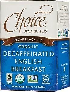 Choice Organic Teas Black Tea, 16 Tea Bags, Decaffeinated English Breakfast