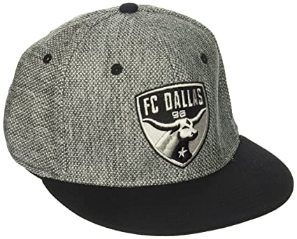 sale retailer 490b2 3d988 Image Unavailable. Image not available for. Color  adidas MLS Fc Dallas  Men s Heathered Gray Fabric Flat Visor Flex Hat ...