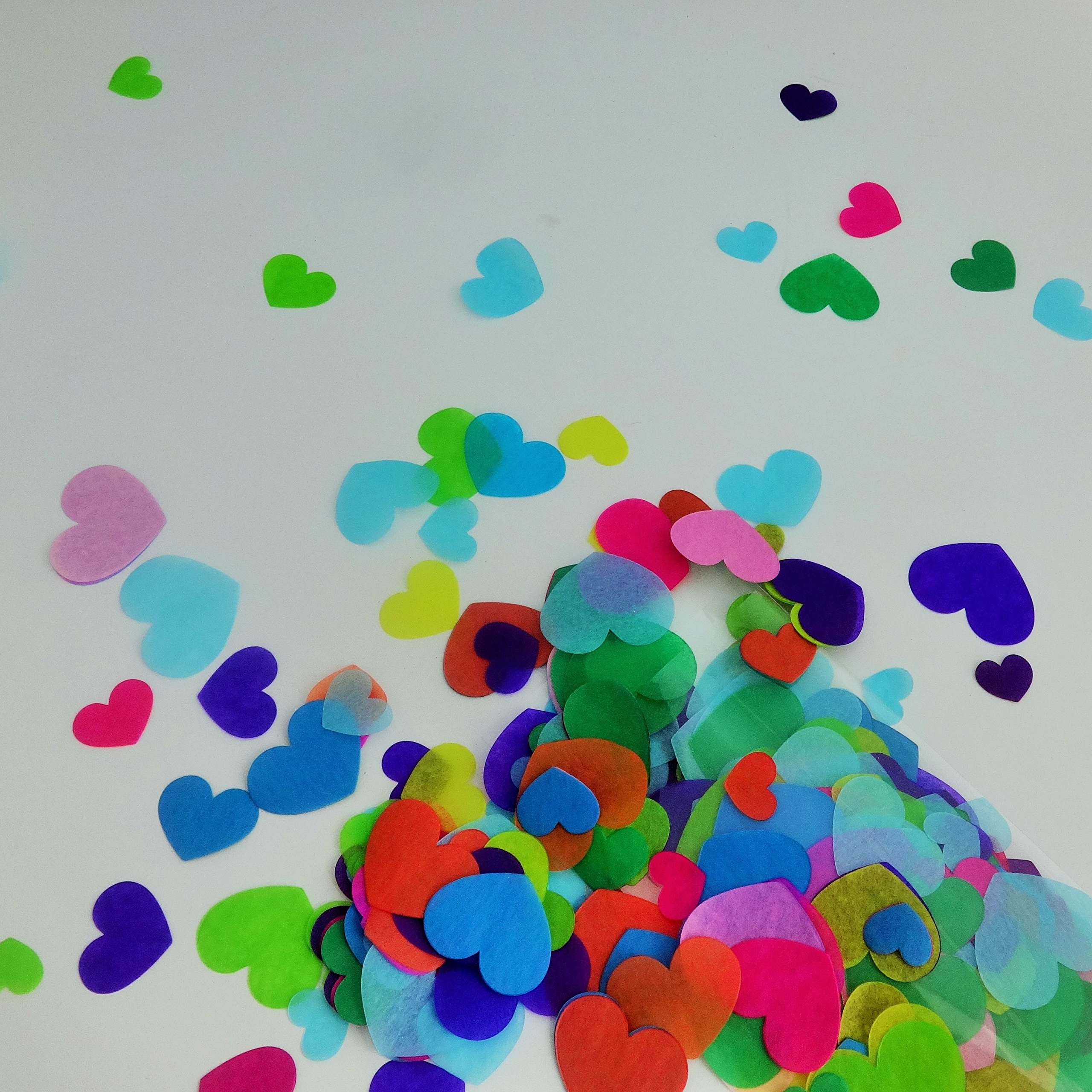 Confetti Circles 1 1//4 3 Different Colors Pink Silver and Blue Picwrap .