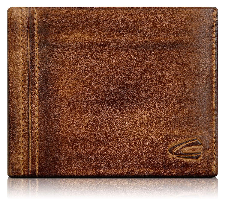 camel active, große Geldbörse aus Echtem Leder, Hochwertiges Echtleder Portemonnaie für Herren, Geldbeutel (braun) 158751
