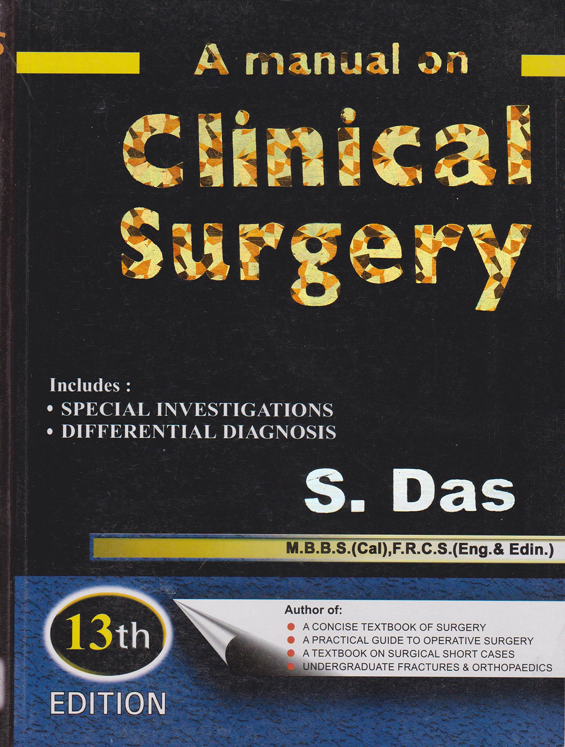 Amazon.in: Buy A Manual On Clinical Surgery 13ed Book Online at Low Prices  in India | A Manual On Clinical Surgery 13ed Reviews & Ratings