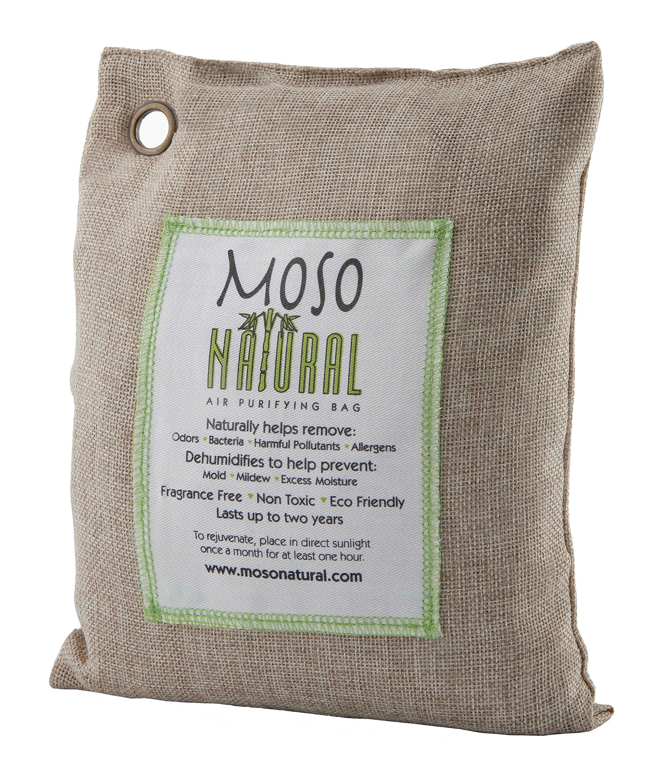 Moso Natural Air Purifying Bag 500-Grams. Natural Color. Natural Odor Eliminator. Fragrance Free, Chemical Free, Odor Absorber. Captures and Eliminates Odors.