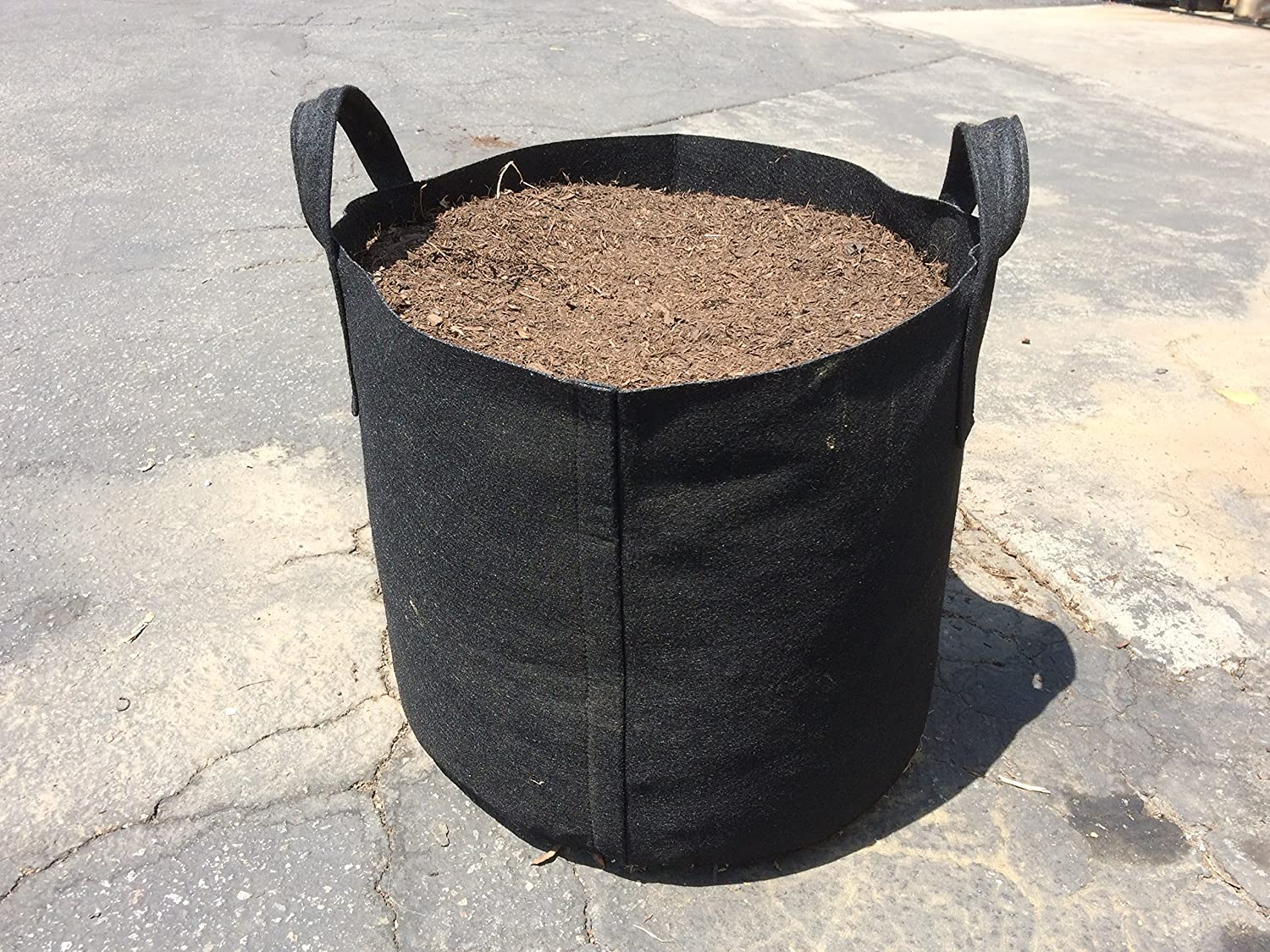 10 Gallon Grow Bags w/Handles (Black) for grow cabbage in pots