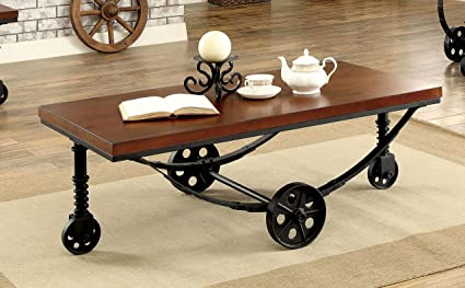 Furniture Of America Abbie Caster Wheel Coffee Table