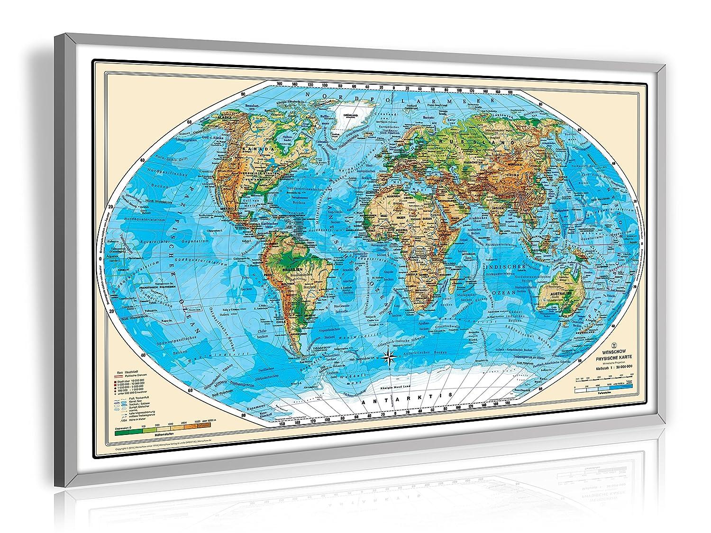 Amazon.de: Pinnwand Weltkarte XXL Deluxe 138 cm x 85, 5 cm, im ...