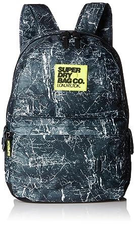 Superdry Marble Montana, Sacs à dos homme, Nero (Marble Black), 30.0x45.0x15.0 cm (W x H L)