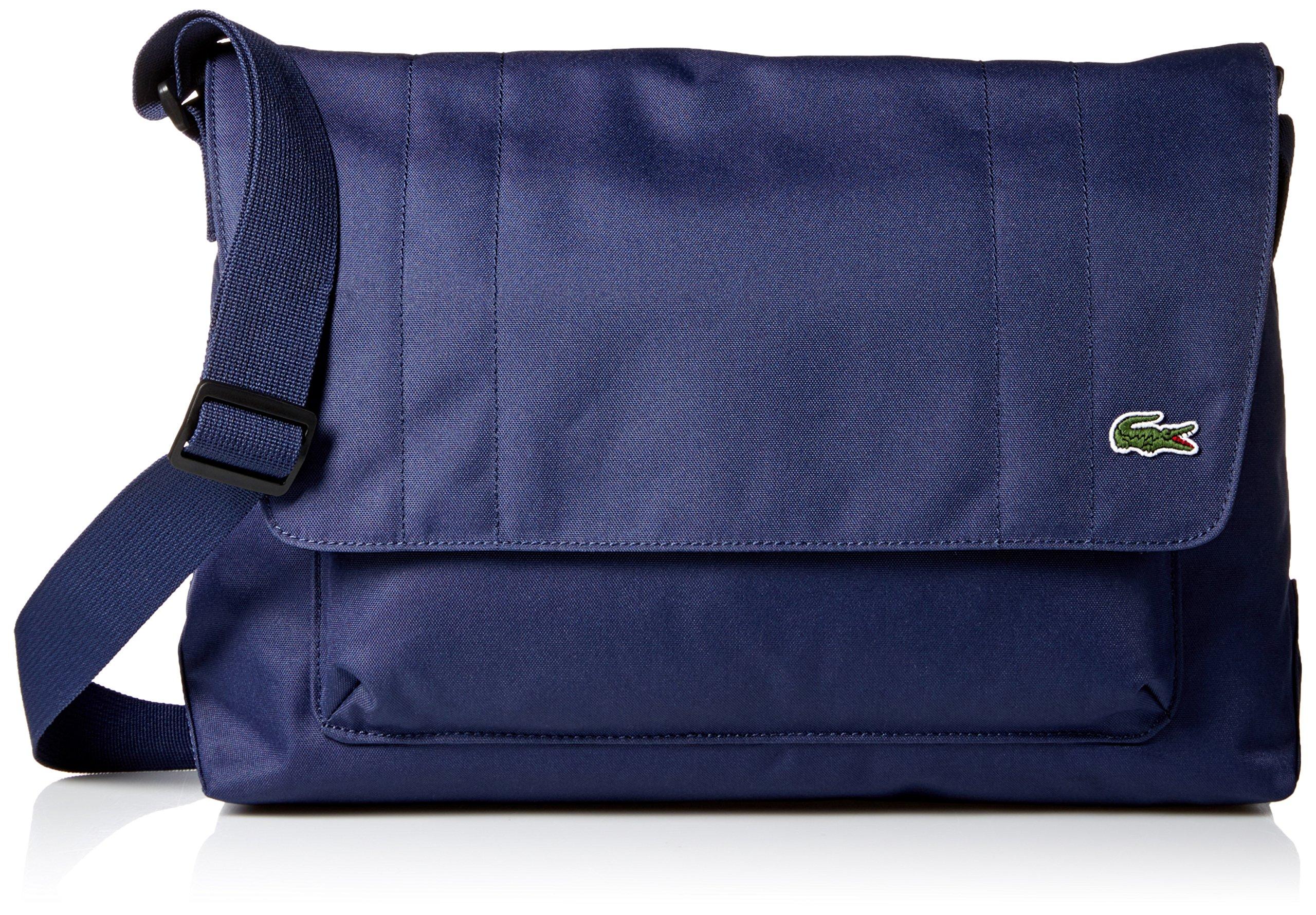 Lacoste Men's Neocroc Messenger Bag with Zip, Peacoat
