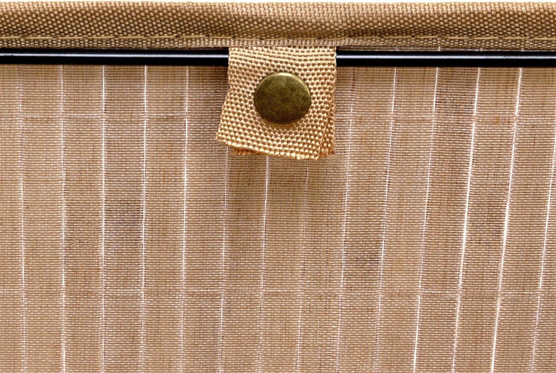 Bad braun Spielzeug rechteckig Accessoires Stoffbezug Bambus HxBxT: 20x31x31 cm 1 x Aufbewahrungskorb Regalkorb