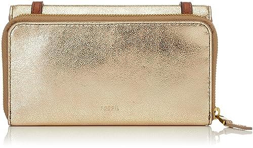 Fossil - Damen Tasche Brynn Mini Bag, Carteras Mujer, Gold (Pale Metallic)