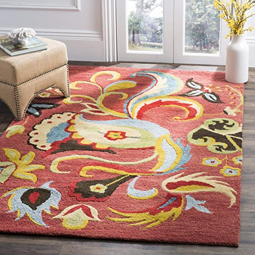 Safavieh Blossom Collection BLM680B Handmade Premium Wool Area Rug