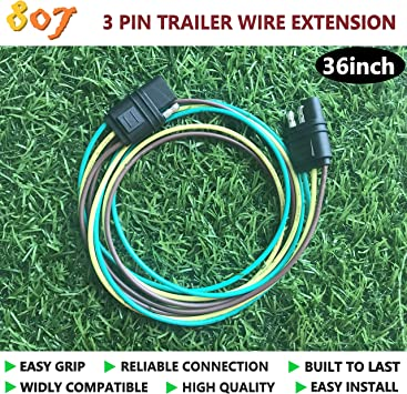 807 3 4 5 6 Way Trailer Wire Harness Extension Connector Plug For Led Tailgate Light Bar And Trailer Light 3 Way Flat Wiring Amazon Canada