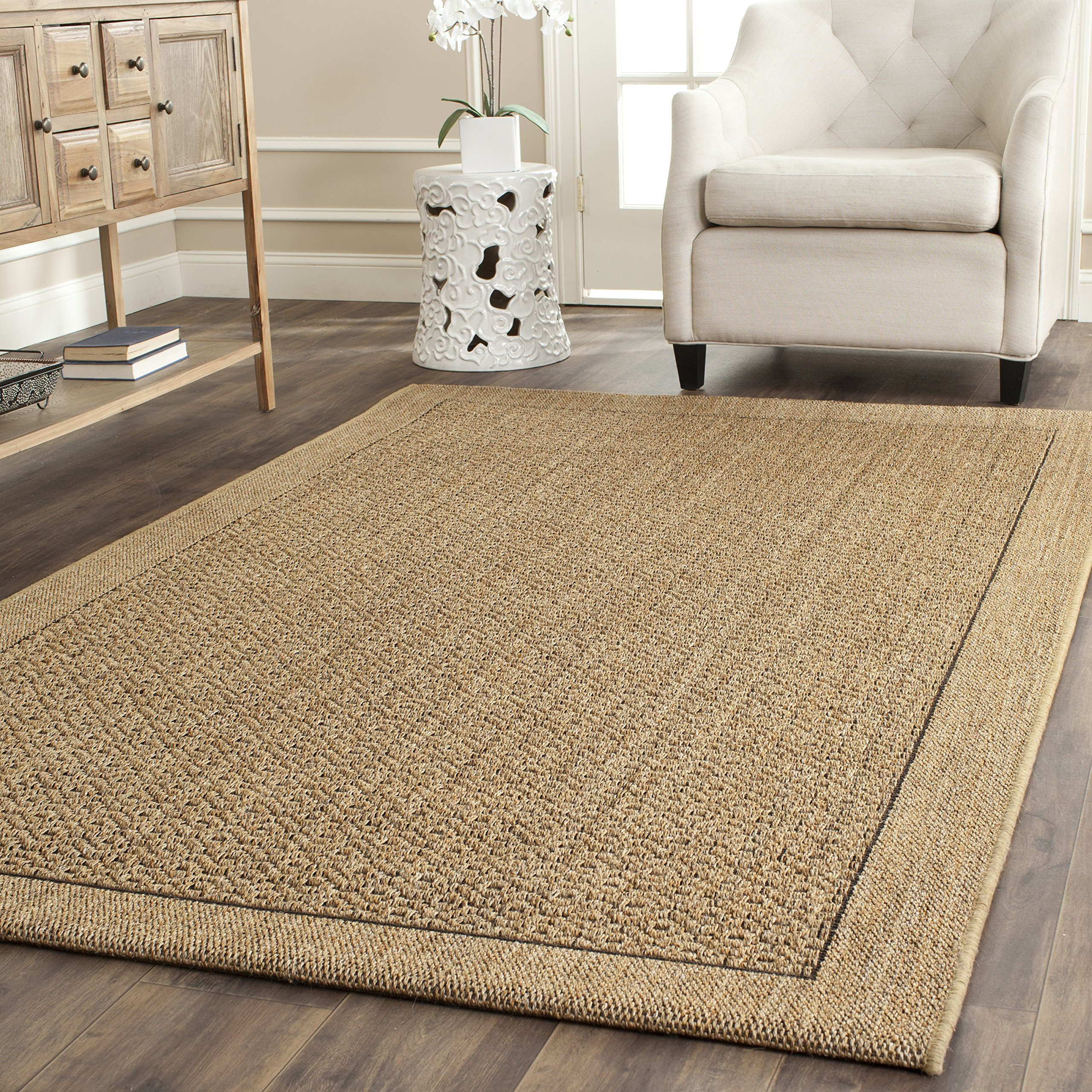Safavieh Palm Beach Collection PAB355A Natural Sisal & Jute Area Rug (4' x 6') by Safavieh