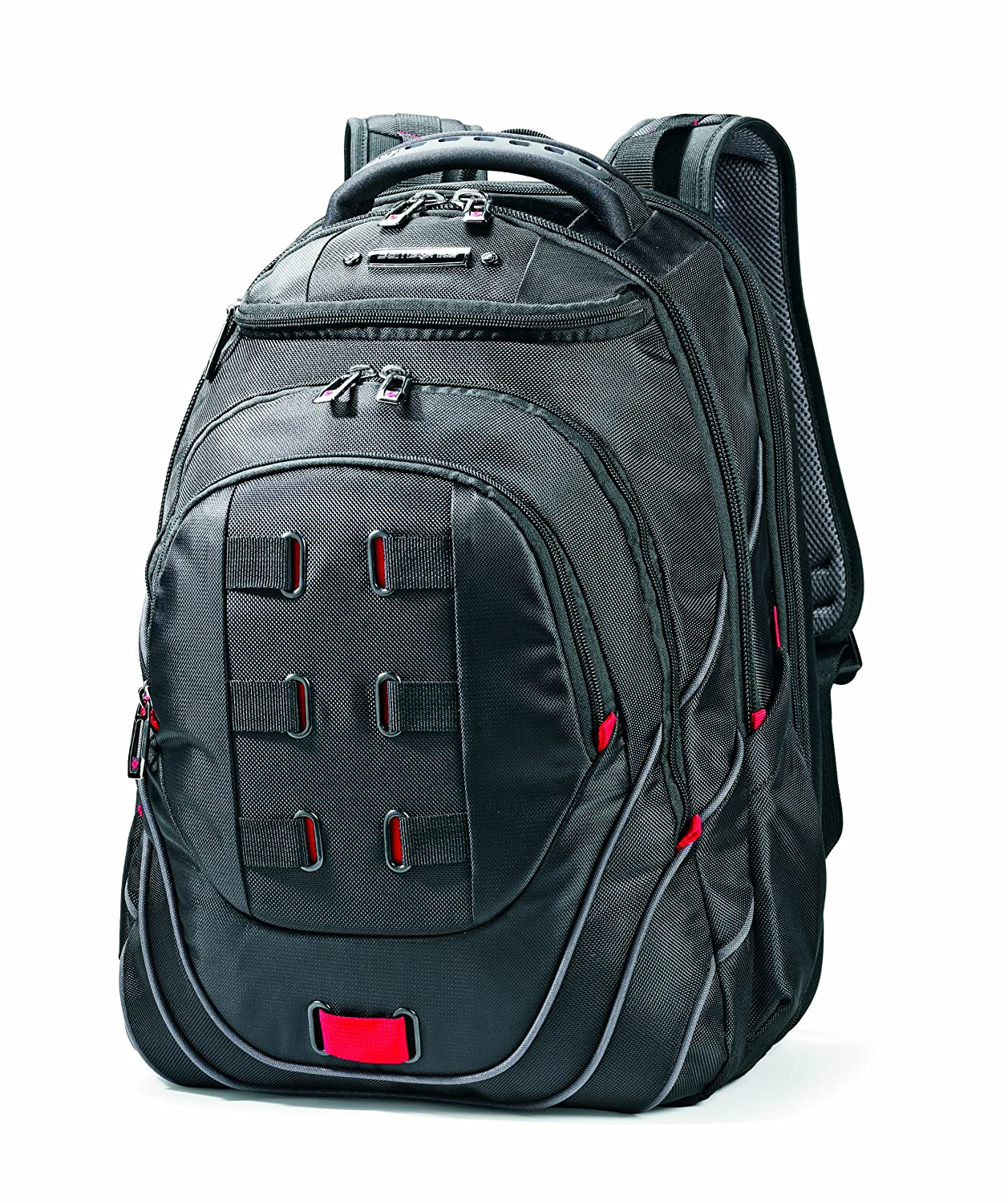 Amazon.com: Samsonite Luggage Tectonic Backpack, Black/Red, One ...
