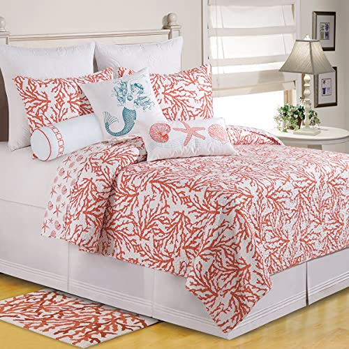 C F Home Cora Full Queen Quilt Full Queen Quilt Coral