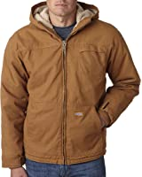 Dickies Men's Sherpa-Lined Hooded Work Jacket with Hand Warmers