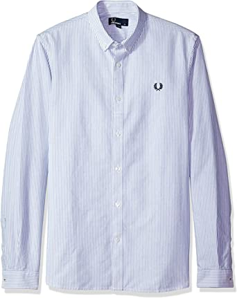 Fred Perry Hombres camisa oxford de rayas Real XXL: Amazon.es ...