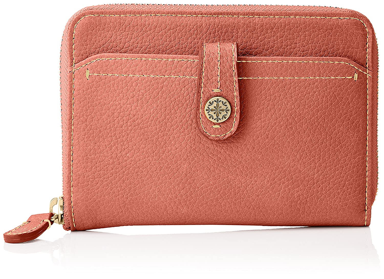 [ボックス21] 折財布 「ミモザ」ラウンドファスナー型折財布 0331511 B078JHTJCS  ピンク