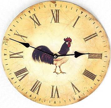 Reloj de Pared Diseno Reloj de Cocina decoracion (Gallo): Amazon.es: Hogar