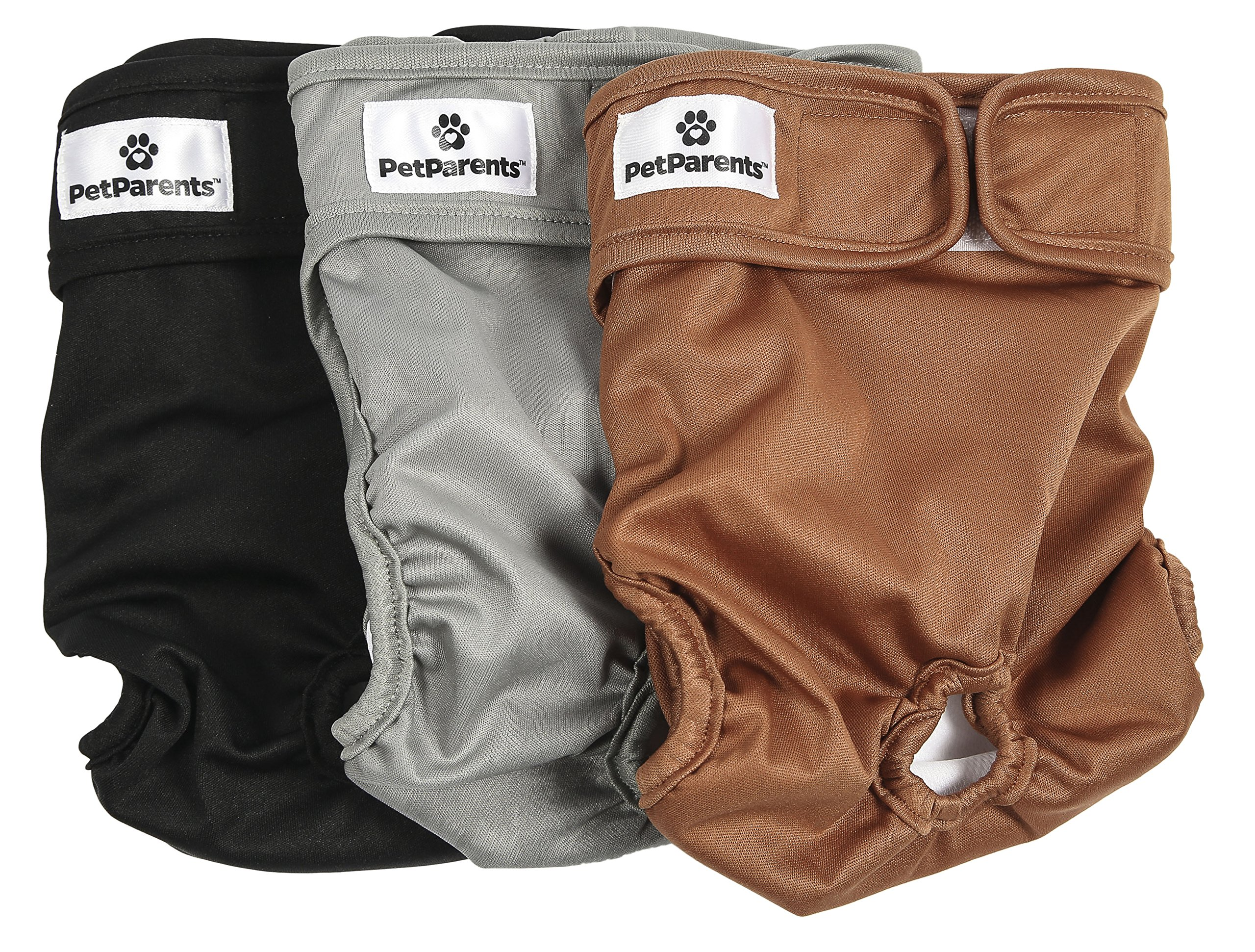 Pet Parents Washable Dog Diapers (3pack) of Doggie Diapers, Color: Natural, Size: Medium Dog Diapers