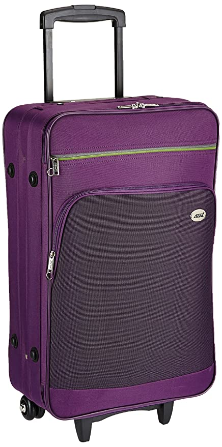 Alfa Polyester 26 cms Purple Softsided Check-in Luggage (STATA69PPL)