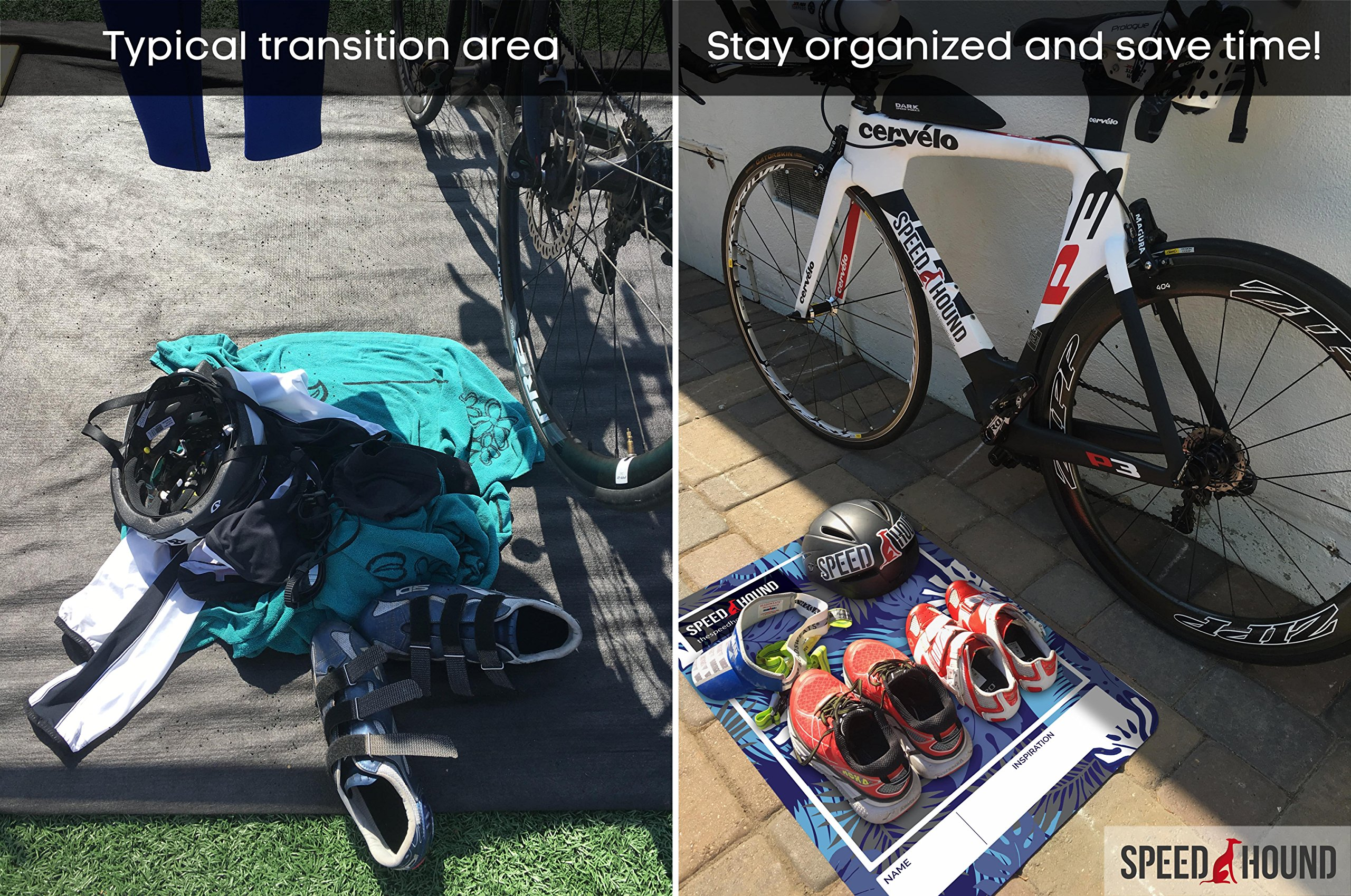 Speed Hound Triathlete's #1 Choice T0 Transition Mat and Quick Dry Towel Set (Bad to The Bone) by Speed Hound (Image #2)
