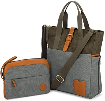 46d05a798f39 LAPTOP BAG for Women with Crossbody Strap and matching Small Purse - Large  Canvas Tote Bag