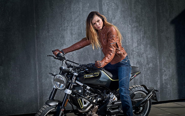 SHIMA CALIBER LADY BROWN XS, Marr/ón Guantes de motocicleta retro vintage de verano para mujeres