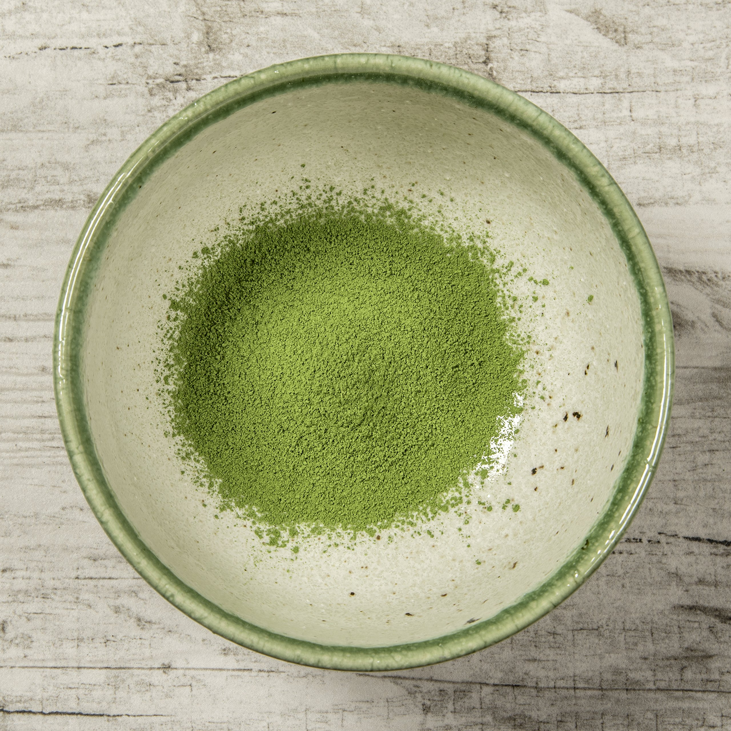 Tealyra - Matcha Bowl - Authentic Ceramic Made in Japan - Chawan from Japanese Master-Craft - Matcha Tea Cup Ceremony Use - Green by Tealyra (Image #4)